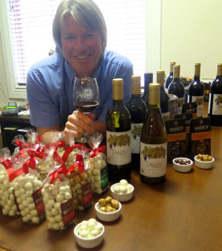 wine and chocolate at Tanis Vineyards Winery